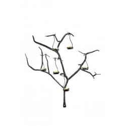 Träd med värmeljus på vägg